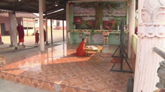 Buddhist boy studying in the monastery, Myanmar. Stock Footage