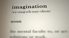 Imagination Definition Stock Footage