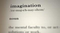 Imagination Definition - stock footage