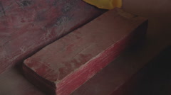 Old Buddhist book, Myanmar. Stock Footage