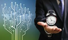 Stock Photo of Time of technology business concept