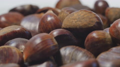 Chestnuts, typical autumnal food Stock Footage