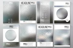 Technical construction with connected lines and dots.  Brochures, flyers or Stock Illustration