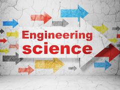 Stock Illustration of Science concept: arrow with Engineering Science on grunge wall background