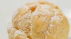 Stock Video Footage of Creamy Bignè, pastries from France and north of Italy