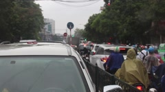 Traffic congestion in asean Stock Footage