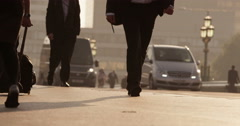 Stock Video Footage of Anonymous crowd during rush hour. Shot in slow motion on RED Epic.