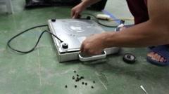 Stock Video Footage of electronics repairman civil