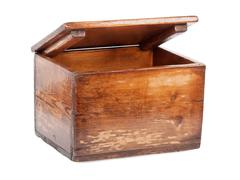 Old wooden chest - stock photo