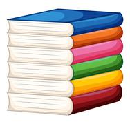 Stack of colorful books Stock Illustration