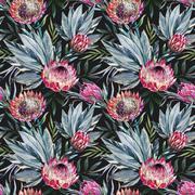 Raster tropical protea pattern Stock Illustration