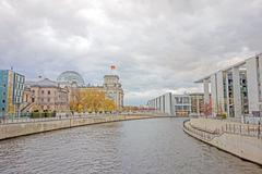 Spree river and Reichstag, Berlin - stock photo