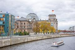 Spree river and Reichstag, Berlin Stock Photos