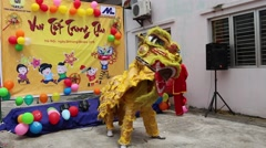 lion dance festival - stock footage