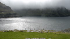 Typical landscape on the Faroe Islands - stock footage