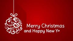 Merry christmas and happy new year greeting 4k (4096x2304) Stock Footage