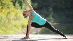 Professional yoga practice Stock Footage