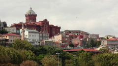Fener Greek High School in Istanbul, Turkey Stock Footage