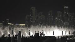 The Dubai fountain working 3 Stock Footage