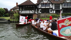 Swan Upping 2015 on River Thames UK Stock Footage