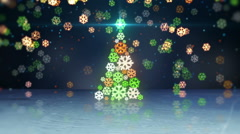 Christmas tree shape and reflection loop Stock Footage
