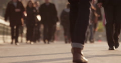 Anonymous crowd during rush hour. Shot in slow motion on RED Epic. Stock Footage