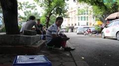 Shoeshine man rent Stock Footage