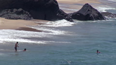 Alentejo beach coast Stock Footage