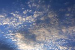Small fluffy clouds Cirrocumulus Tyrol Austria Europe Stock Photos