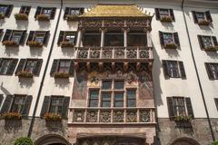 The Golden Roof the late Gothic alcove balcony of 149798 Innsbruck Tyrol - stock photo