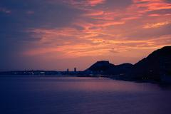 Alicante fort sunset swirl - stock photo