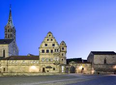 Stock Photo of Bamberg Cathedral or Bamberger Dom St Peter und St Georg Old Court Bamberg
