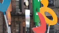 Artwork at NYC High Line - stock footage