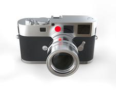 Digital photo camera - studio shot Stock Illustration