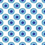 Blue Daisy floral seamless patern background - stock illustration