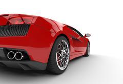 Red Supercar Taillight Closeup Stock Illustration