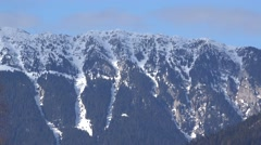 Mountain crest with snow Stock Footage