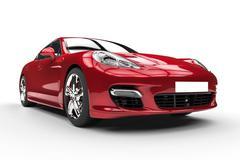 Crimson Red Fast Car Beauty Shot Stock Illustration