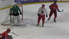 Game in Mini hockey with the ball - stock footage