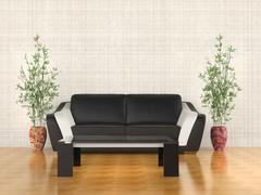 Sofa and coffe table Stock Illustration