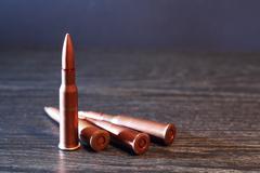 Rifle Cartridges Stock Photos