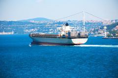 Navigation In Bosporus - stock photo