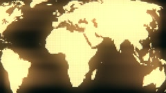 Earth map spinning with fixed pixel position - stock footage
