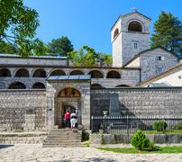 Cetinje Orthodox monastery of the Nativity of the Blessed Virgin, Montenegro - stock photo