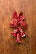 Christmas bells on wooden background Kuvituskuvat