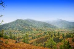 mountain in autumn day - stock photo