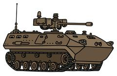 Sand track armoured vehicle - stock illustration