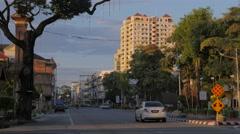 Street with traffic,Kota Bharu,Kelantan,Malaysia Stock Footage