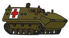 Stock Illustration of Military ambulance track vehicle