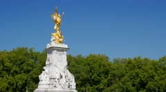 Static shot of the Victoria Memorial Stock Footage